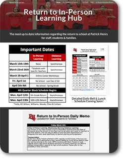 Return To In-Person Learning Hub Home Page